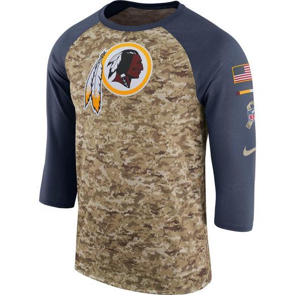Nike Men s Washington Redskins Salute to Service Raglan T-Shirt - Main  Container Image 1 24df714c5
