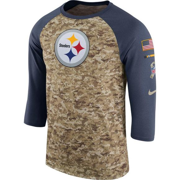 f41beb10953 Nike Men's Pittsburgh Steelers Salute to Service Raglan T-Shirt - Main  Container Image 1