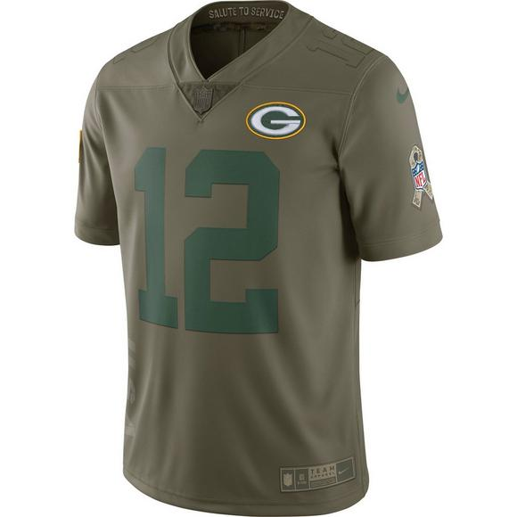 quality design 693d4 460e4 Nike Men's Green Bay Packers Aaron Rodgers Salute to Service ...