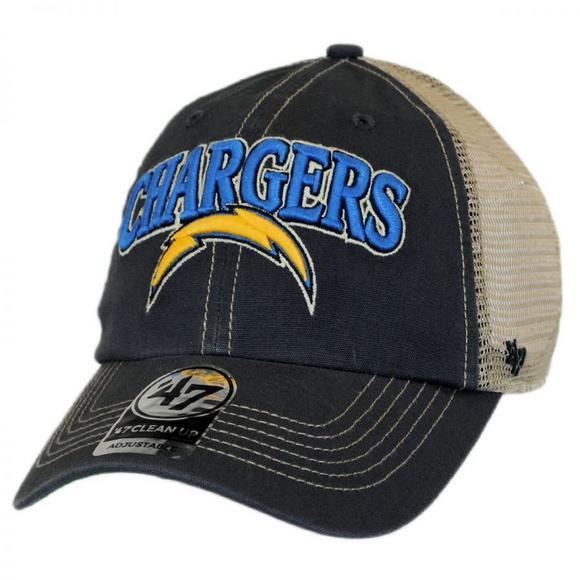 47 Brand Tuscaloosa Clean Up LA Chargers Adjustable Hat - Main Container  Image 1.   fcbdc558fc49