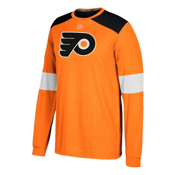 2e12ac4243 adidas Philadelphia Flyers Men's Long Sleeve Jersey T-Shirt - Hibbett US