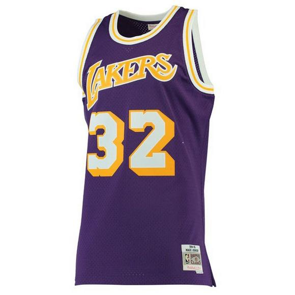84ce8bb18 Mitchell   Ness Men s LA Lakers Magic Johnson  84 Swingman Jersey - Main  Container Image