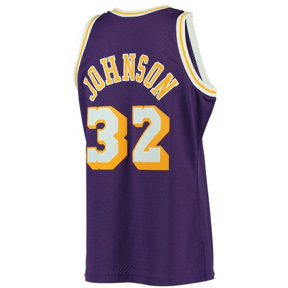 2263daafe ... mitchell ness mens la lakers magic johnson 84 swingman jersey main  container image
