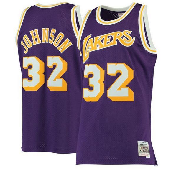 detailed look 73b5c a8ac0 Mitchell & Ness Men's LA Lakers Magic Johnson '84 Swingman ...