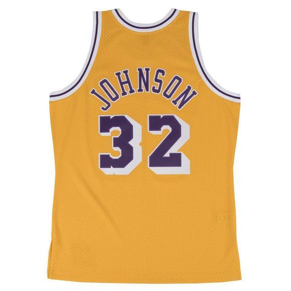 90b19ac4113 Mitchell   Ness Men s LA Lakers Magic Johnson  84 Gold Swingman Jersey -  Main Container