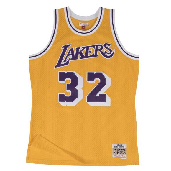 Mitchell   Ness Men s LA Lakers Magic Johnson  84 Gold Swingman Jersey -  Main Container cedb1093c