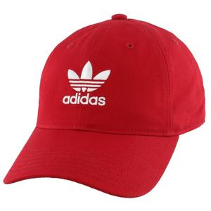 7cbf0e9bd17 adidas Originals Washed Relaxed Strapback - Red