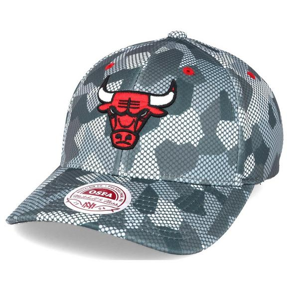 Mitchell   Ness Chicago Bulls Carbon Camo Slouch Flexfit Hat - Main  Container Image 2 0f0efbe44bd