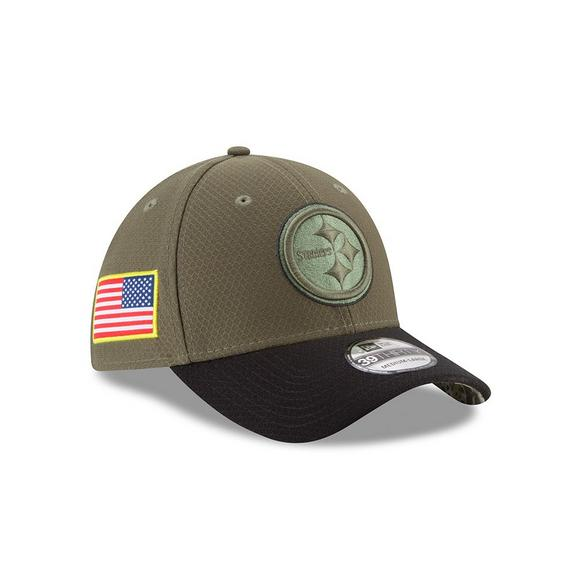 quality design 6d2d5 a4c80 New Era Pittsburgh Steelers Salute to Service Stretch Fit Hat