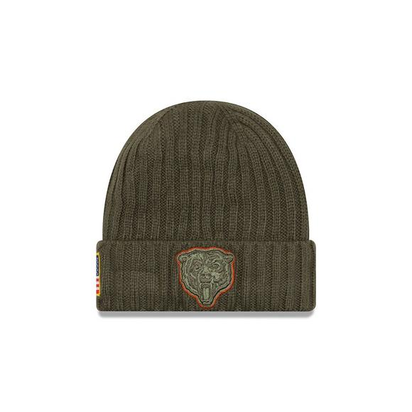 uk availability df8bd 70991 New Era Chicago Bears Salute to Service Knit Beanie ...