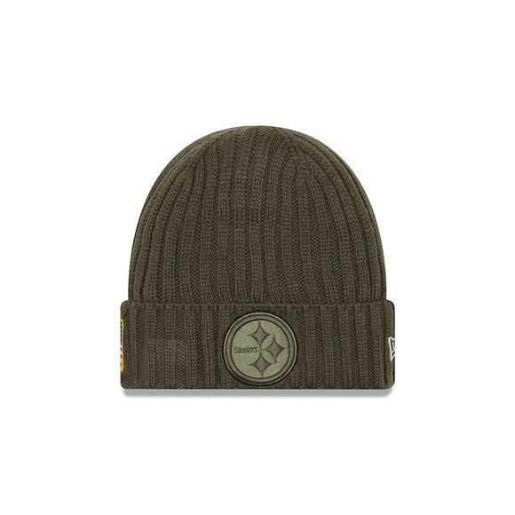 new product 4caba 49e03 New Era Pittsburgh Steelers Salute to Service Knit Beanie ...