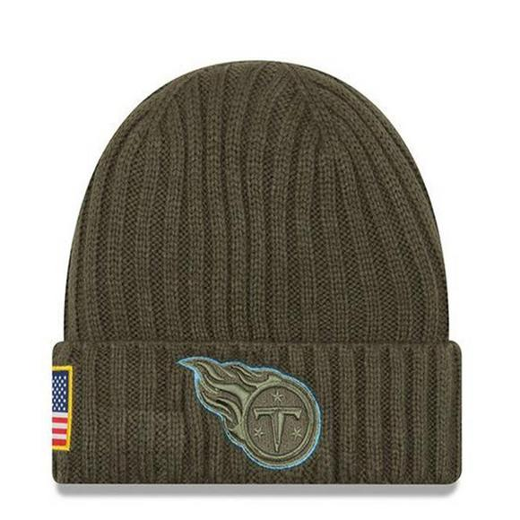 New Era Tennessee Titans Salute to Service Knit Beanie - Main Container  Image 1 98fbfca74c5