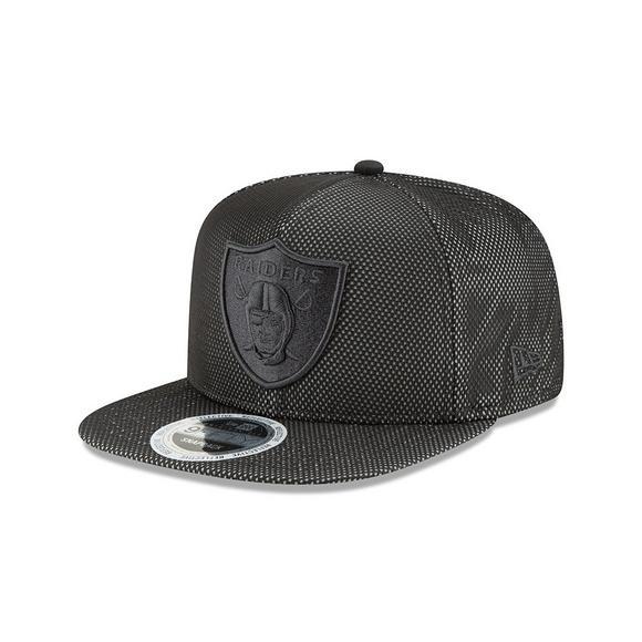 942acbeed94 New Era Oakland Raiders Flectmesh 950 Snapback Adjustable Hat - Main  Container Image 1