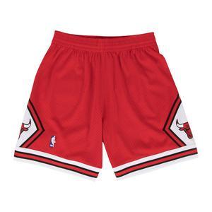 1542dffd28 Mitchell & Ness Men's Chicago Bulls Red NBA Swingman Shorts