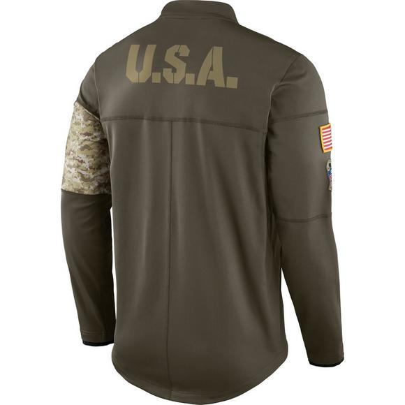watch a6969 7f7b5 Nike Men's Dallas Cowboys Salute to Service Hybrid Half-Zip ...