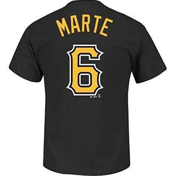 d540d50dff8 Majestic Men s Pittsburgh Pirates Starling Marte  6 Name and Number T-Shirt  - Main