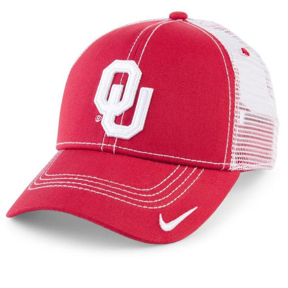 97535f58b32 Nike Men s Oklahoma Sooners Adjustable Mesh Hat - Main Container Image 1