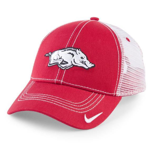 c9a1072207ee Nike Men s Arkansas Razorbacks Meshback Adjustable Hat - Main Container  Image 1