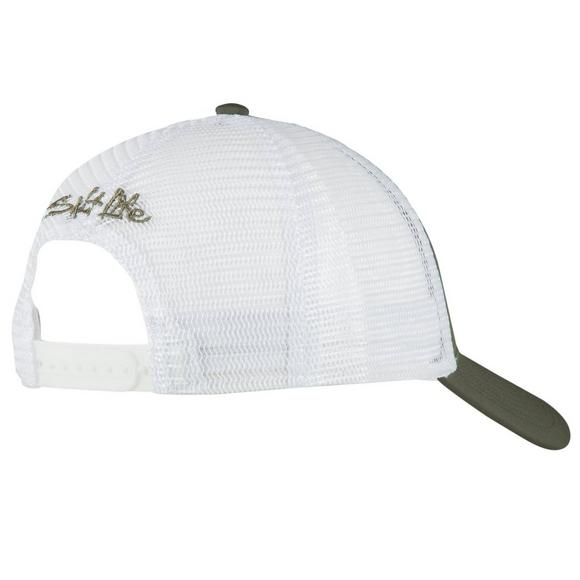 505a741cd072d Salt Life Skull And Hooks Mesh Hat - Main Container Image 2