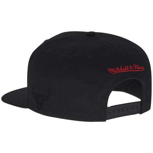 568646300 Mitchell & Ness Chicago Bulls Element Black Team Snapback Hat - Main  Container Image 2