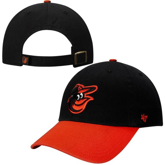 47985386283  47 Brand Men s Baltimore Orioles Basic Logo Clean Up Road Adjustable Hat -  Main Container.