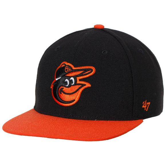 47 Brand Sure Shot 2 Tone Baltimore Orioles Snapback Hat - Main Container  Image 1.   82f17487728