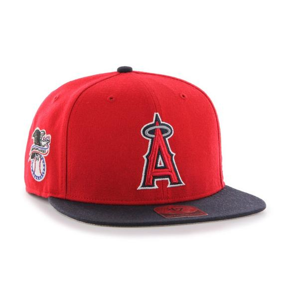 47 Brand Los Angeles Angels Two-Tone Snapback Hat - Main Container Image  2.   56c0dc0825a7