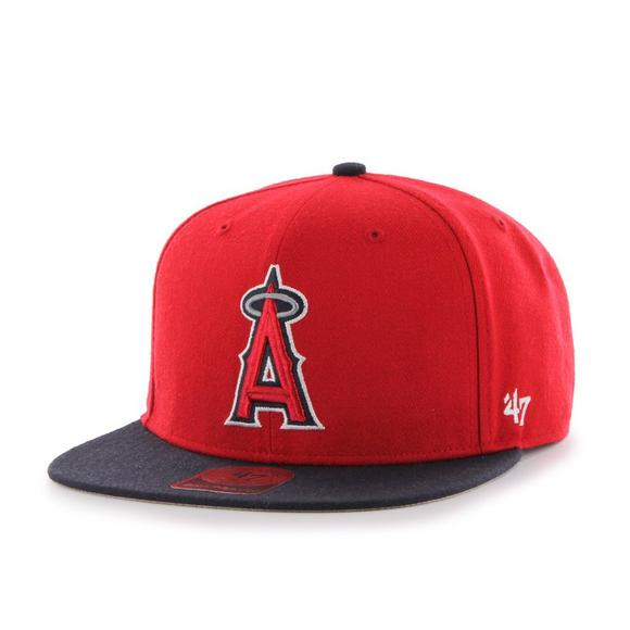 47 Brand Los Angeles Angels Two-Tone Snapback Hat - Main Container Image  1.   07d5d8a2f14d