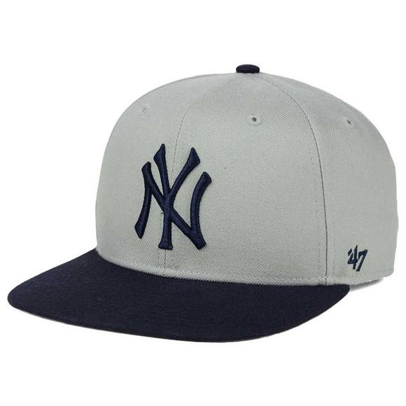 84935352ec1  47 Brand Sure Shot 2 Tone New York Yankees Snapback Hat - Main Container  Image.