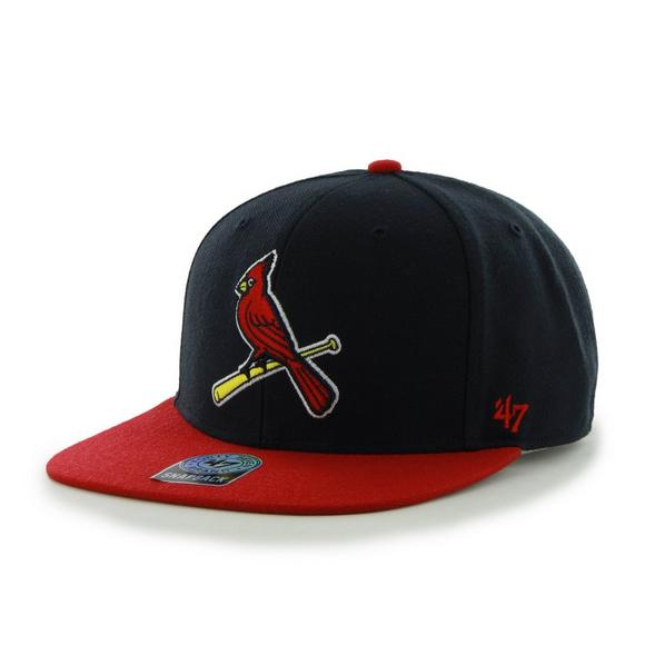 47 Brand St. Louis Cardinals Sure Shot Two-Tone Snapback Hat - Main.   b9567b1e950