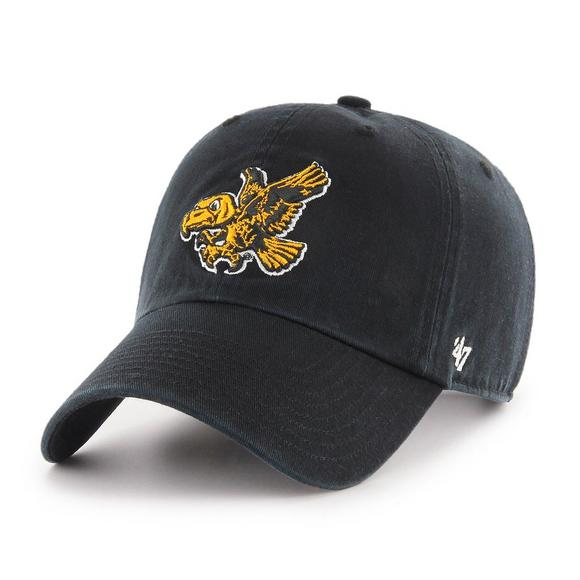 a9b3fb934751f  47 Brand Iowa Hawkeyes Vintage Clean Up Adjustable Hat - Main Container  Image 1.