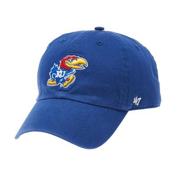 47 Brand University of Kansas Jayhawks Clean Up Cap - Main Container Image  1.   5dd27249b612