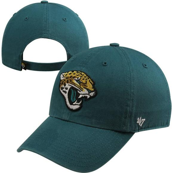 new product 8e8b7 724a2  47 Brand Jacksonville Jaguars Basic Logo Cleanup Adjustable Hat - Main  Container Image 1.
