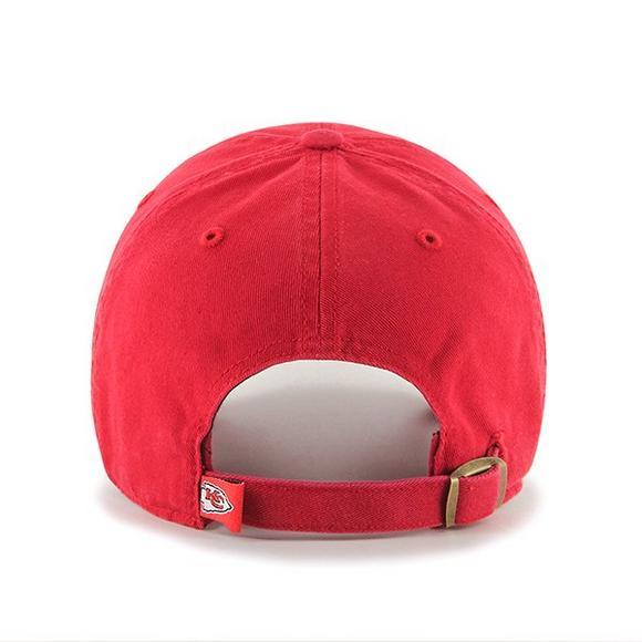 f05980c0 47 Brand Kansas City Chiefs Clean Up Adjustable Hat - Hibbett US
