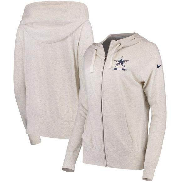 Nike Women s Dallas Cowboys Gym Vintage Full-Zip Hoodie - Main Container  Image 1 0373535ac