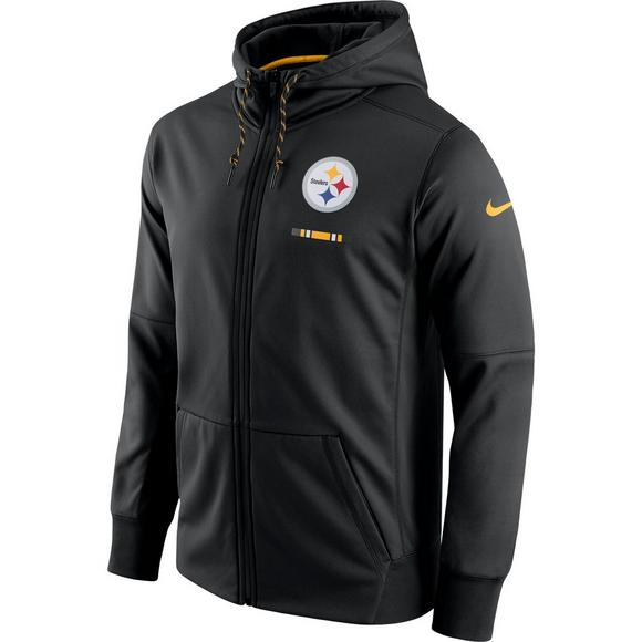 more photos c6785 7cc81 Nike Men's Pittsburgh Steelers Therma-Fit Full Zip Hoodie ...