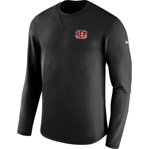 2b85b8dd Nike Men's Cincinnati Bengals Modern Crew Long Sleeve T-Shirt ...