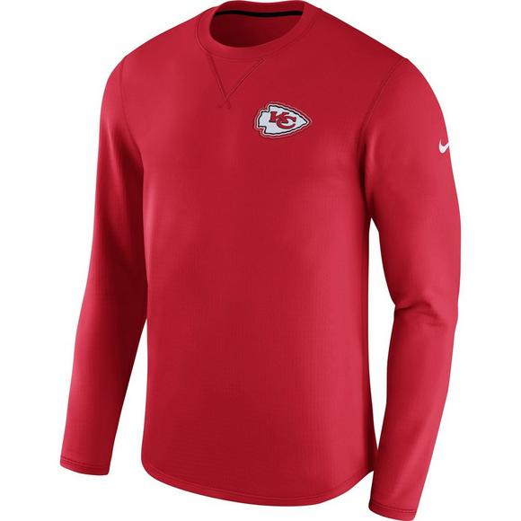 the best attitude 406f0 c1a43 Nike Men's Kansas City Chiefs Modern Crew Long Sleeve T ...