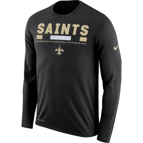 d5b9f4e9 Nike Men's New Orleans Saints Legend Staff Long Sleeve T-Shirt - Main  Container Image