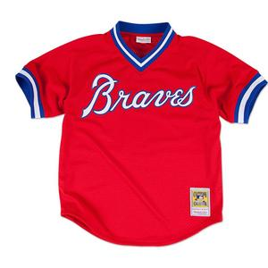 68c83cd1 Mitchell and Ness Atlanta Braves Dale Murphy Batting Practice Jersey- Red  ...