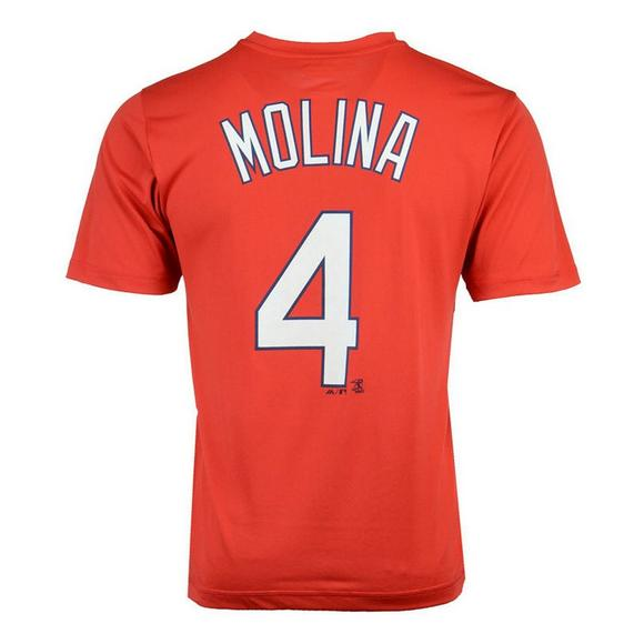 detailed look ba2dc 7208f Majestic Men's St. Louis Cardinals Yadier Molina MLB Name ...