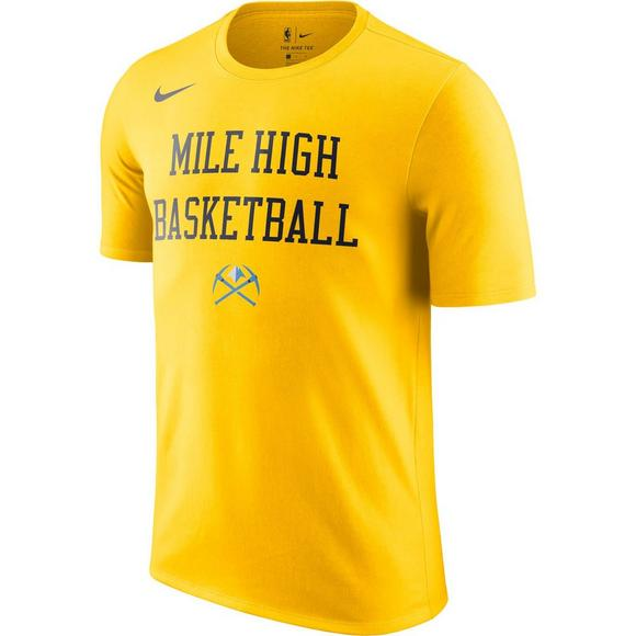 online retailer a7b8a 9e03f Nike Men's Denver Nuggets City Edition Team T-Shirt - Hibbett US