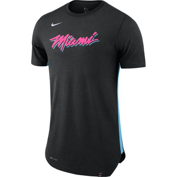 new styles 2b04e ab6de Nike Men's Miami Heat City Edition Hem T-Shirt