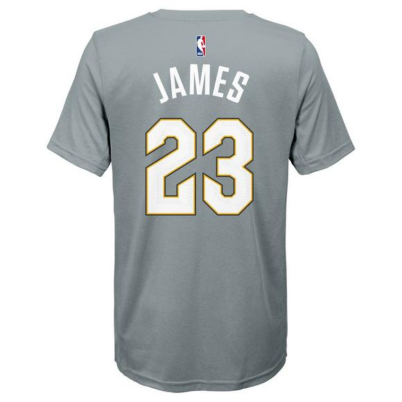 buy online 7a242 a2573 Nike Youth Lebron James Cleveland Cavaliers City Edition Name & Number  T-Shirt
