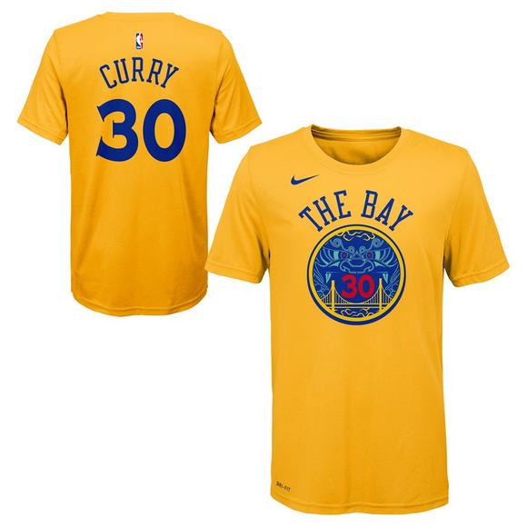 best cheap 72b46 69449 Nike Youth Stephen Curry Golden State Warriors City Edition ...