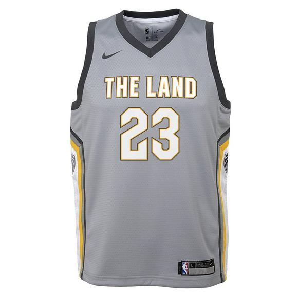 best service 182e7 1809a Nike Youth Lebron James Cleveland Cavaliers City Edition Swingman Jersey