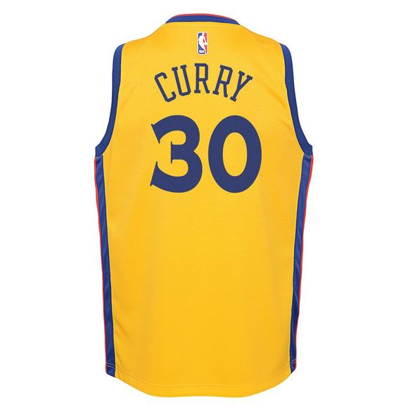 huge discount 6161f 9c1dc Nike Youth Stephen Curry Golden State Warriros City Edition ...