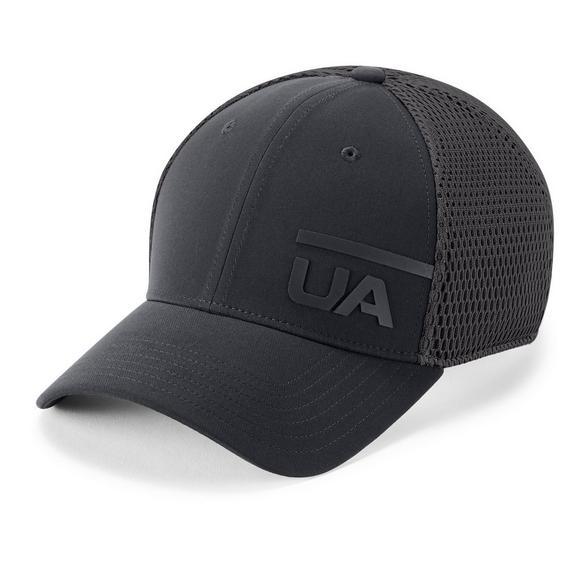b354961741 Under Armour Men's Spacer Mesh Hat - Black/Grey