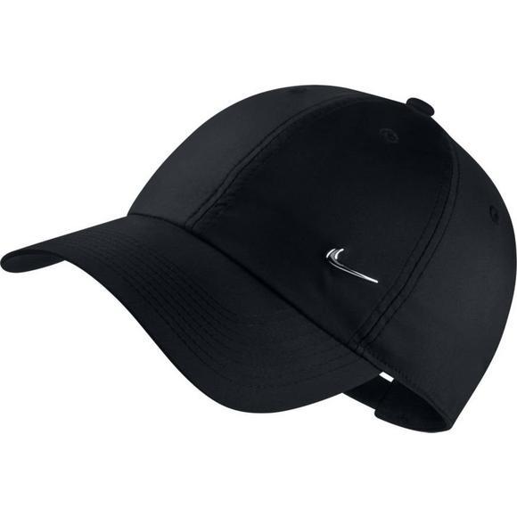 465ca8538 Nike Unisex H86 Black Metal Swoosh Cap - Hibbett US