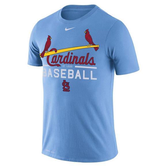 Nike Men s St. Louis Cardinals Light Blue Dri-Fit Practice T-Shirt ... f8bfeb5dc